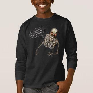 Esqueleto divertido del humorista de monólogos camisas