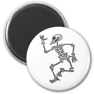 Esqueleto divertido imán redondo 5 cm
