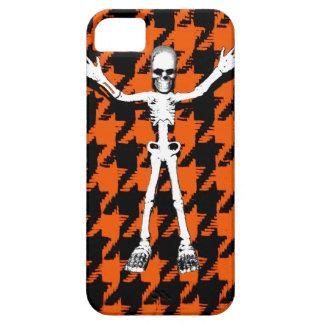 Esqueleto el Halloween Houndstooth Funda Para iPhone SE/5/5s