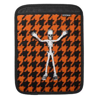 Esqueleto el Halloween Houndstooth Mangas De iPad