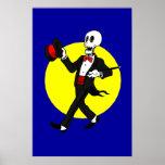 Esqueleto en bandera del personalizar del smoking