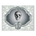 """Esqueleto en el espejo Halloween Invitación 4.25"""" X 5.5"""""""