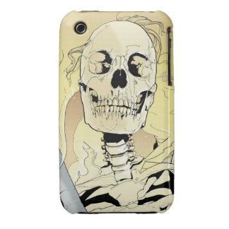 Esqueleto en el fuego iPhone 3 fundas