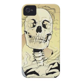Esqueleto en el fuego iPhone 4 cobertura