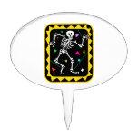 Esqueleto en el gráfico colorido Halloween de la c Decoraciones De Tartas