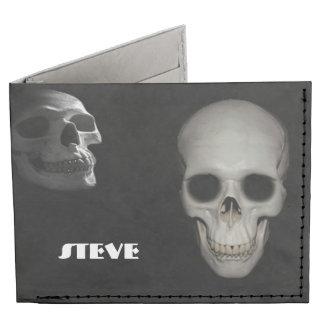 Esqueleto en la cartera del armario billeteras tyvek®