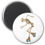 Esqueleto en pcteres de ruedas imán de frigorífico