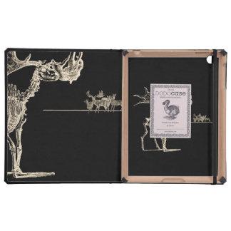 Esqueleto espeluznante de los alces con los huesos iPad cárcasa