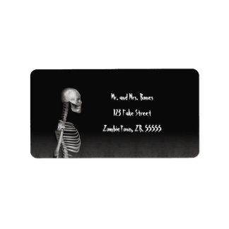 Esqueleto - etiquetas de Halloween Etiquetas De Dirección