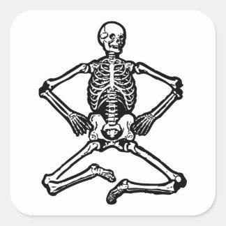 Esqueleto fantasmagórico pegatina cuadrada