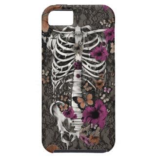 Esqueleto floral del cordón del idiota idiopático iPhone 5 Case-Mate funda