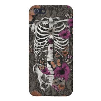 Esqueleto floral del cordón del idiota idiopático iPhone 5 carcasa