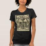 Esqueleto, gótico, medieval camiseta