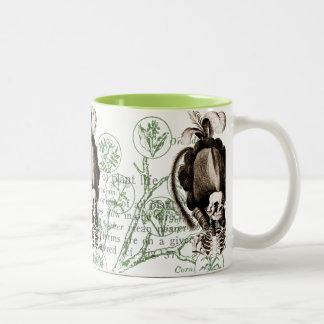 Esqueleto hermoso del vintage taza