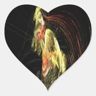 Esqueleto Hominoid Pegatina En Forma De Corazón