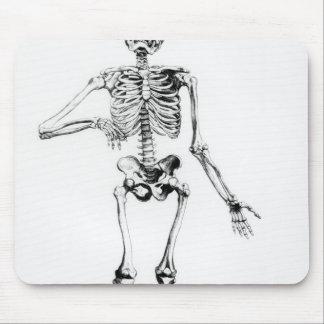 Esqueleto humano alfombrilla de raton