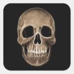 Esqueleto humano de la radiografía de Halloween de Calcomania Cuadradas Personalizadas
