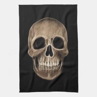 Esqueleto humano de la radiografía de Halloween Toallas De Cocina