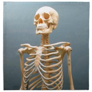 Esqueleto humano servilletas de papel