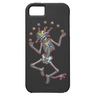 Esqueleto II del bufón que hace juegos malabares Funda Para iPhone SE/5/5s