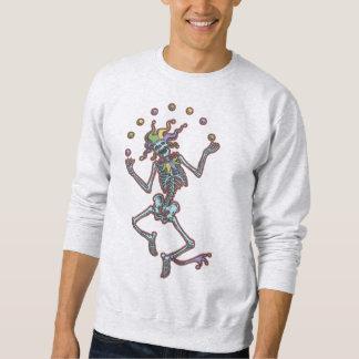 Esqueleto II del bufón que hace juegos malabares Suéter