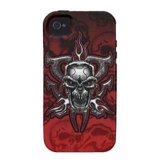 Esqueleto ilustrado cráneo del cromo del adaptador iPhone 4/4S carcasas
