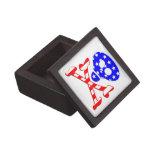 Esqueleto patriótico cajas de recuerdo de calidad