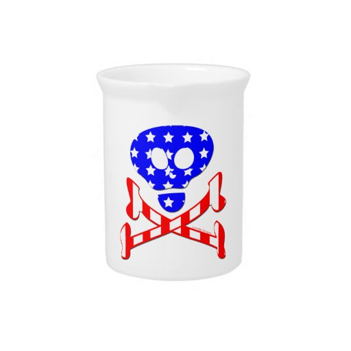 Esqueleto patriótico jarra de beber