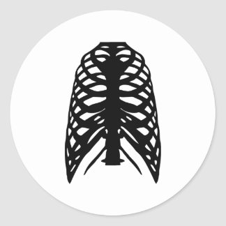 Esqueleto Pegatina Redonda