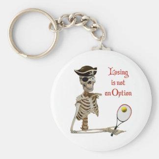 Esqueleto perdidoso del tenis del pirata llavero