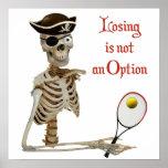 Esqueleto perdidoso del tenis del pirata impresiones