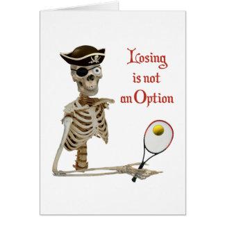 Esqueleto perdidoso del tenis del pirata felicitaciones