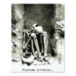 Esqueleto precolombino de Gravesite - fiesta de Invitación 10,8 X 13,9 Cm