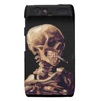 Esqueleto que fuma de Van Gogh Funda Para Motorola Droid RAZR