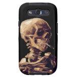 Esqueleto que fuma de Van Gogh Galaxy S3 Cárcasas