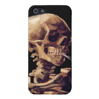 Esqueleto que fuma de Van Gogh iPhone 5 Carcasas