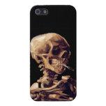 Esqueleto que fuma de Van Gogh iPhone 5 Cobertura