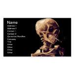 Esqueleto que fuma de Van Gogh Plantilla De Tarjeta De Visita