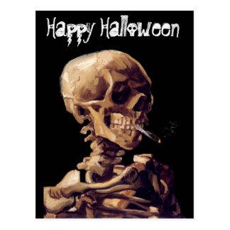 esqueleto que fuma tarjetas postales