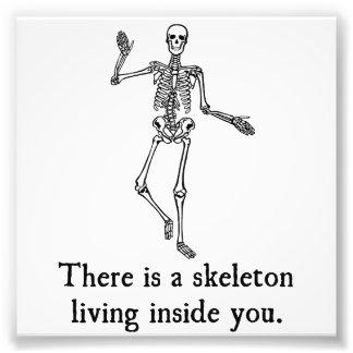 Esqueleto que vive dentro de usted impresion fotografica