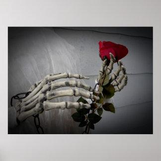 Esqueleto romántico del el día de San Valentín que Poster