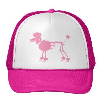 Esqueleto rosado del caniche gorra