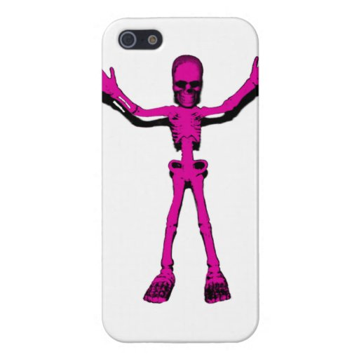 Esqueleto rosado iPhone 5 funda