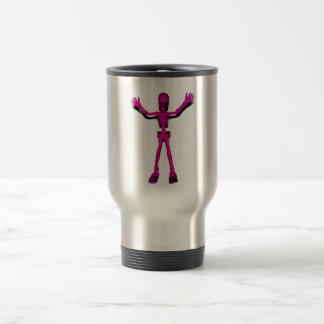 Esqueleto rosado taza de café