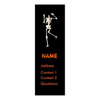 Esqueleto sin cabeza - flaco plantillas de tarjeta de negocio