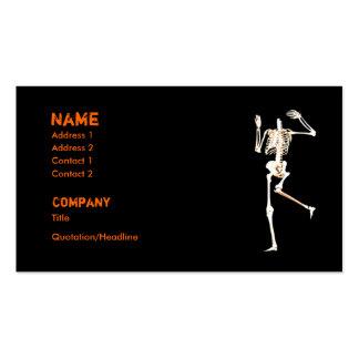 Esqueleto sin cabeza - negocio tarjeta de negocio