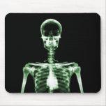 Esqueleto verde de Vision de la radiografía solo Tapete De Ratón