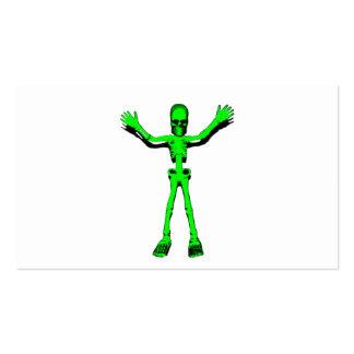 Esqueleto verde tarjetas de visita