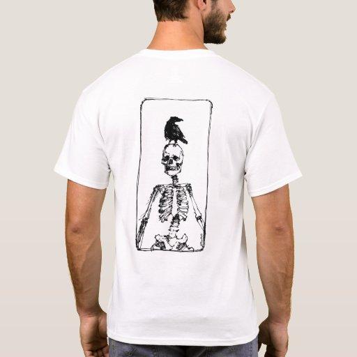 Esqueleto y cuervo playera