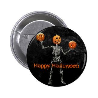 Esqueleto y linternas de Jack O Pin Redondo De 2 Pulgadas